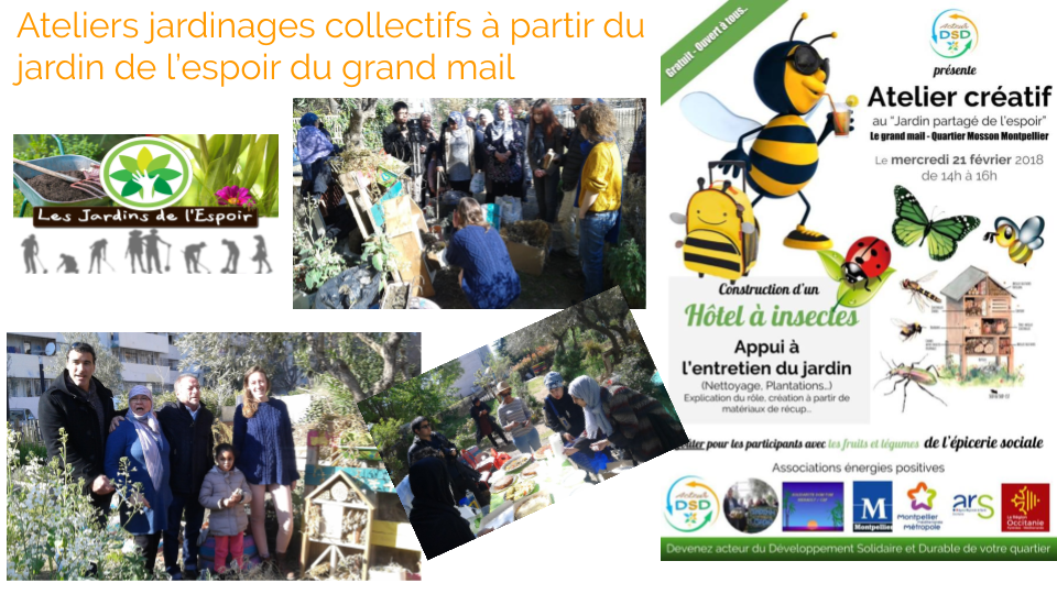 Ateliers jardinages collectifs
